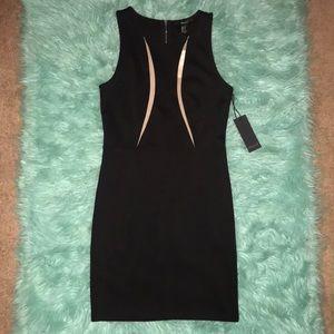 NWT Forever21 black mini dress w/tan sheer ancient
